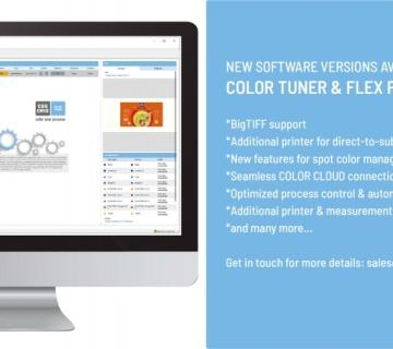 数字打样和实物原型制作的颜色管理软件COLOR TUNER 和 FLEX PACK新版本发布!